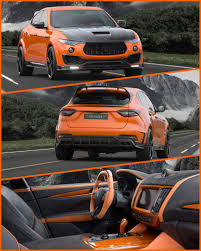 orange maserati mansory adds bold styling and individuality to maserati u0027s 2017 levante