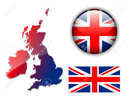 Englang Flag United Kingdom England Flag Map And Glossy Button Royalty Free