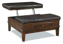 Square Leather Ottoman With Storage Square Leather Storage Ottoman Coffee Table Beaconinstitute Info