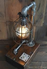 amazon com steampunk desk lamp lighting rustic light industrial