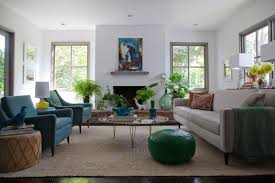 Blue Chairs For Living Room Peacock Blue Chairs Eclectic Living Room Eric Design
