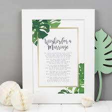 wedding present anniversary gift poem print by bespoke verse