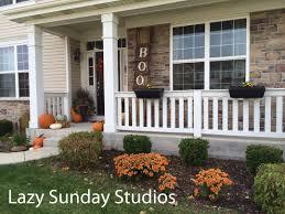 front porch fall decorating lazy sunday studios idolza