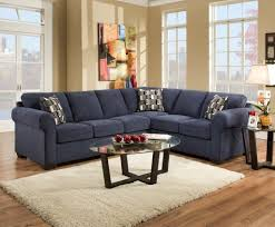 Navy Tufted Sofa by Furniture Elegant Navy Blue Tufted Sofa With Chaise Lounge And