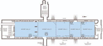 Floor Plan Of A Warehouse by Bartle Exhibit Hall A E Kansas City Convention Center