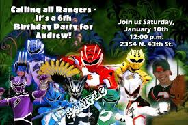 power rangers dino charge birthday invitations candy wrappers