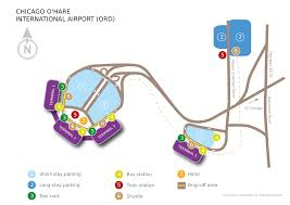 Chicago Ord Map by Airport Chicago Lufthansa Travel Guide