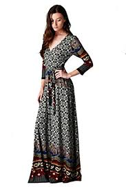 on trend paris dress aztec pattern paisley 3 4 sleeve long maxi