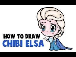draw chibi elsa frozen