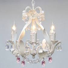 Cheap Pink Chandelier White Iron Crystal Flower Chandelier Lighting W Pink Crystal