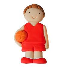 basketball cake topper edible fondant sports birthday basketball player basketball