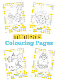 thrifty mum free minions colouring book minion freebies