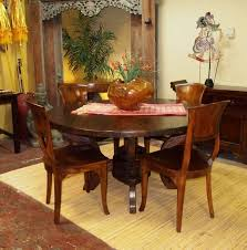 Teak Dining Room Furniture by Rustic Round Dining Table Hand Crafted From Reclaimed U0026 Teak