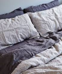 Grey Linen Bedding Grey And White Pillows And Blankets For A Dreamy Relaxing Bedroom