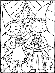 printable gnome coloring pages gnome kids drinking chocolate