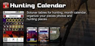 free solunar tables hunting hunter calendar apps on google play