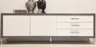white lacquer buffet cabinet www roomservicestore com a grey veneer white lacquer credenza