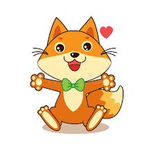 Funny Character Memes - cute funny fox cheerful character cartoon vector cartoon vector