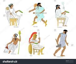 ancient greek gods goddesses stock illustration 226623343
