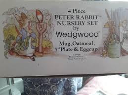 wedgwood rabbit nursery set vintage wedgwood 4 rabbit nursery set in baguley