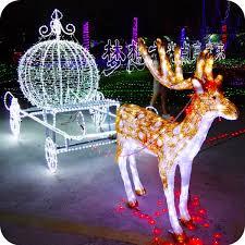 decorative reindeer carriage light decorative