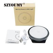is led light safe szyoumy motion sensor light rechargeable 6 led night light stick