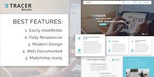 tracer blocks app landing page html template html technology