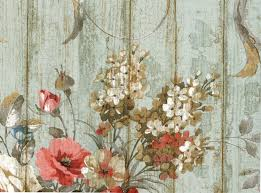 Prepasted Wallpaper Victorian French Birds U0026 Roses Pre Pasted Wallpaper Shabby Chic