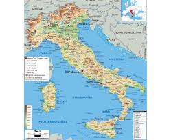 Western Europe Physical Map by Maps Of Italy Detailed Map Of Italy In English Tourist Map