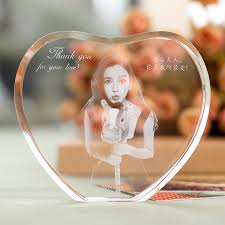 engravable photo album customized heart shape laser engraved photo album family