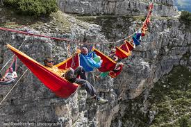 Hanging Hammocks Relaxing In Hammocks Hanging Over Italian Alps Designplx