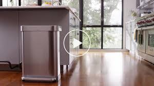 rose gold appliances simplehuman 58 litre rectangular dual compartment pedal bin