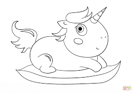 baby chibi unicorn coloring page free printable coloring pages