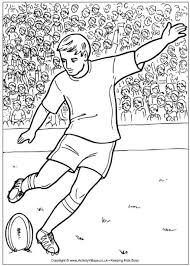 rugby league colouring pages funycoloring