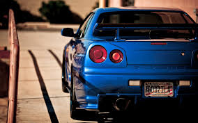 nissan skyline 2015 blue nissan skyline gtr r34 wallpaper
