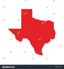 Texas Map Images Red Map Texas Map Texas Icon Stock Vector Illustration 305892821