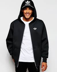 adidas originals neoprene hoodie ab7831 in black for men lyst