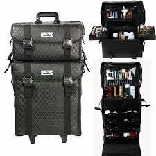 professional makeup artist bag unho 2 in1 pro makeup artist trolley soft cosmetic storage