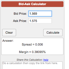 bid ask price bid ask calculator
