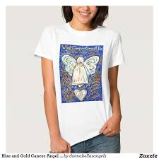 blue and gold cancer angel t shirts