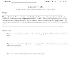 introduction to periodic table lab activity worksheet answer key ninth grade lesson periodic trends reciprocal style day 1
