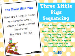 pigs sequencing printable teacher resources