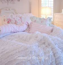 shabby sunny yellow cottage chic ruffled comforter set