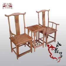 Chinese Armchair Head Armchairs Three Piece Solid Wood Antique Chinese Furniture