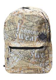Marauders Map Dress Harry Potter Backpack For Adults And Kids