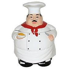 Chef Decor Collection Amazon Com Chef Cookie Jar 88976 By Ack Fat Chef Kitchen Decor