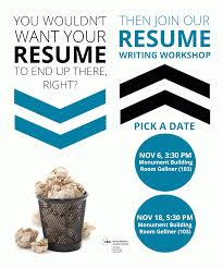 Best Font For Resume 2015 by Resume Writing Workshop Alumni Relations Office