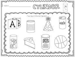 3d shapes worksheets kindergarten free worksheets library