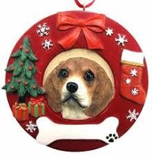 dog wreath christmas ornaments dog holiday ornaments