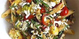 Roast Vegetable Recipe by Penne With Roasted Summer Vegetables And Ricotta Salata Recipe